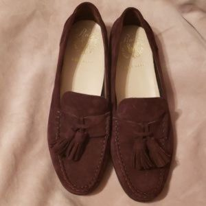 COLE HAAN PINCH HAND SEWN SUEDE LOAFERS SZ 7 1/2B